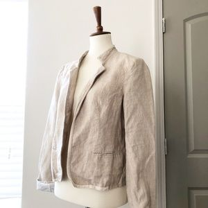 100% Linen LOFT Blazer Size Medium Tan